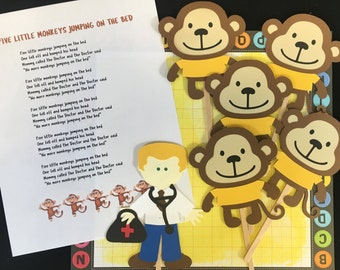 Five Little Monkeys Puppet / Felt Board Set