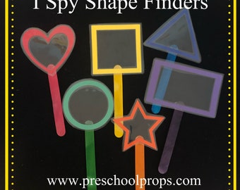 I Spy Rainbow Shape Finders