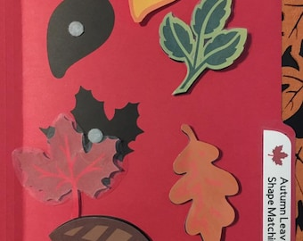 Autumn Leaf Shape Matching Folder