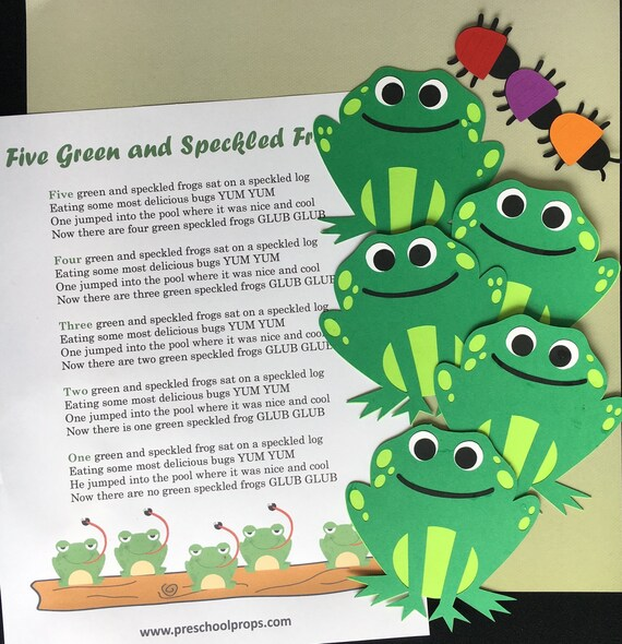 Five Green Frogs Puppet / Felt Board Set