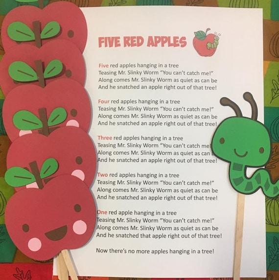 Five Red Apples Puppet / Felt Board Set