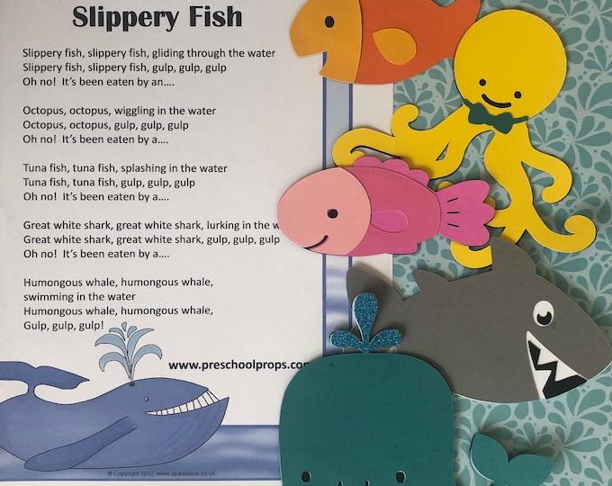 Slippery Fish Puppet / Felt Board Set