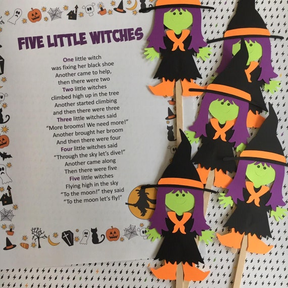 Five Little Witches Puppet / Felt Board Set