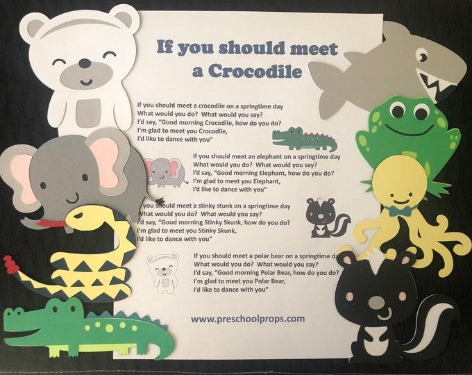 If You Meet a Crocodile Puppet / Felt Board Set