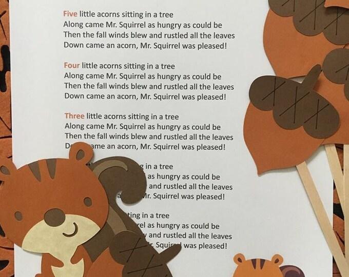 Five Little Acorns Puppet / Felt Board Set