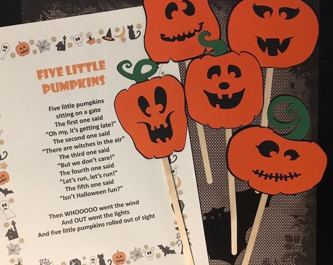 Five Little Pumpkins Puppet / Felt Board Set