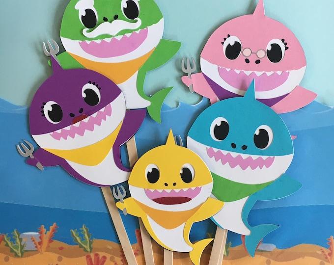 Baby Shark Puppet / Felt Board Set