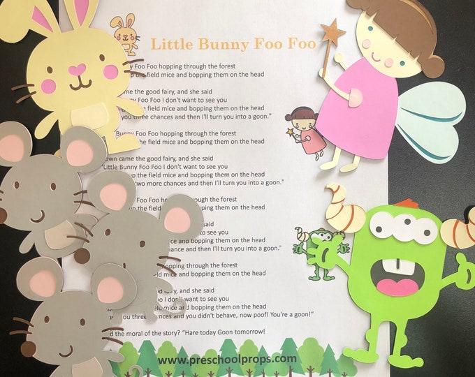 Little Bunny Foo Foo Puppet / Felt Board Set