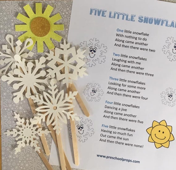 Five Little Snowflakes Puppet / Felt Board Set