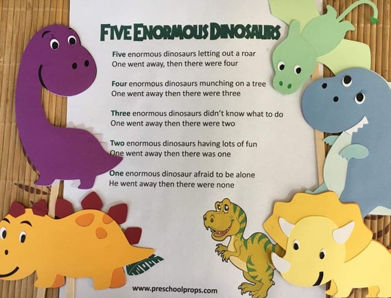 Five Enormous Dinosaurs Puppet / Felt Board Set