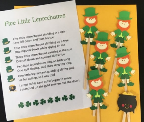 Five Lucky Leprechauns Puppet / Felt Board Set