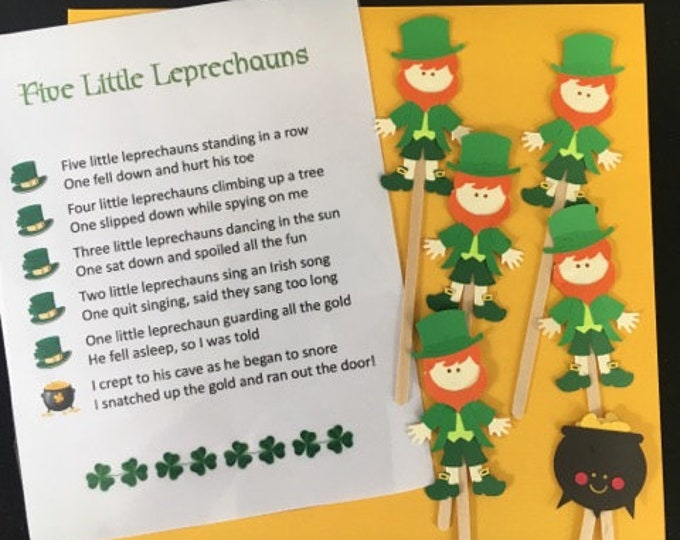 Five Lucky Leprechauns Puppet / Felt Board Set