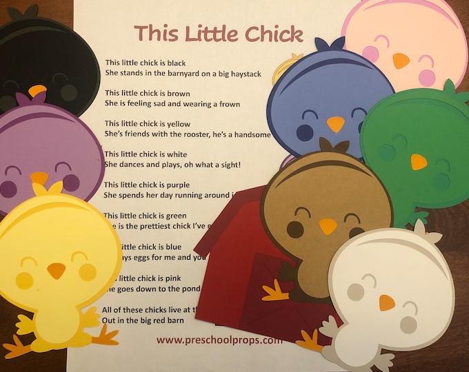 This Little Chick Puppet / Felt Board Set