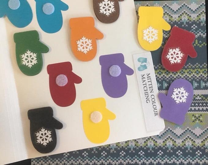 Mitten Colour Matching Folder