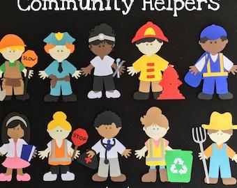 Community Helpers Puppet / Felt Board Set
