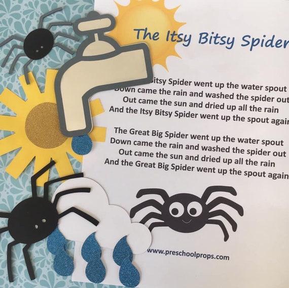 Itsy Bitsy Spider Puppet / Felt Board Set
