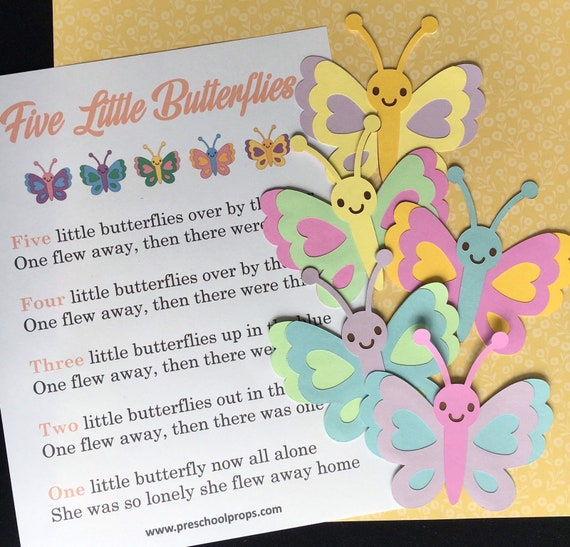 Five Little Butterflies / Felt Board Set