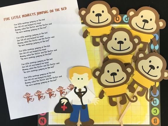 Five Little Monkeys Puppet / Felt Board Set