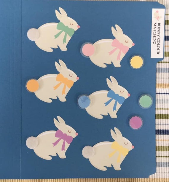 Bunny Colour Matching Folder