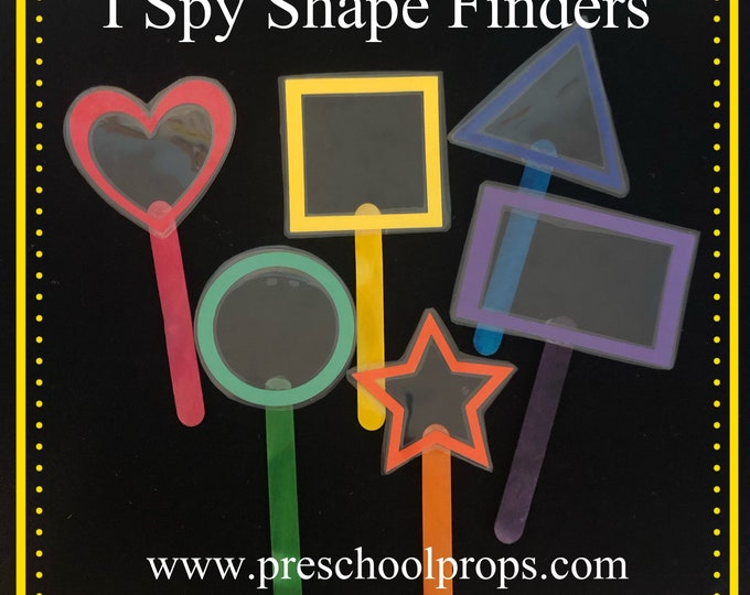 I Spy Rainbow Shape Finders