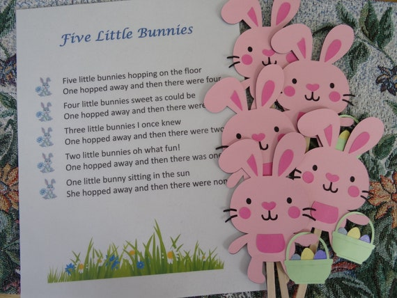 Five Little Bunnies Puppet / Felt Board Set