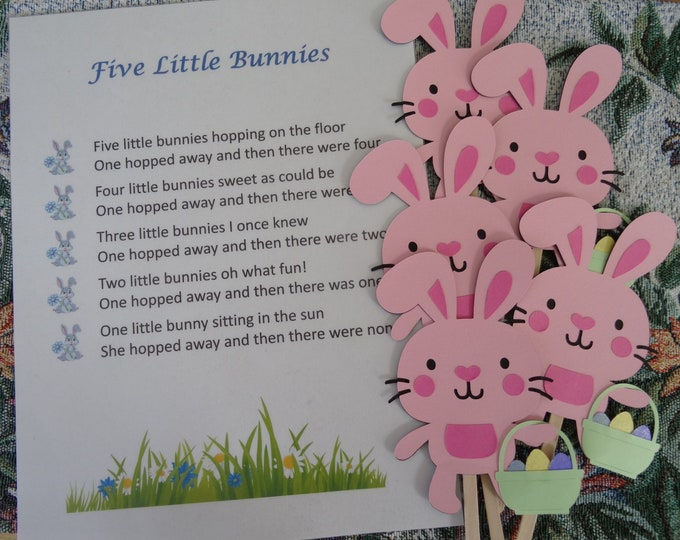 Five Little Bunnies Puppet / Felt Board Set