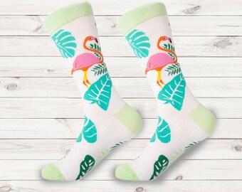 c26eb4c56cf8 men socks | fun mens dress socks | Pink flamingo socks | women socks |  colorful animal socks | wedding socks | groomsmen socks | dress sock