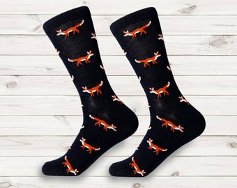 8009ff73fd0 men socks | fun mens dress socks | fox dress sock man | women socks |  colorful animal socks | wedding socks | groomsmen socks