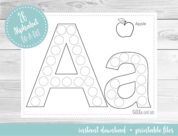 Alphabet 26 Page Do A Dot Art Activity Sheets