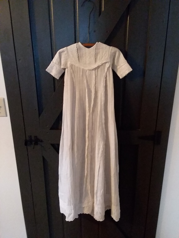 Antique Christening Gown, Beautiful Long White Chr