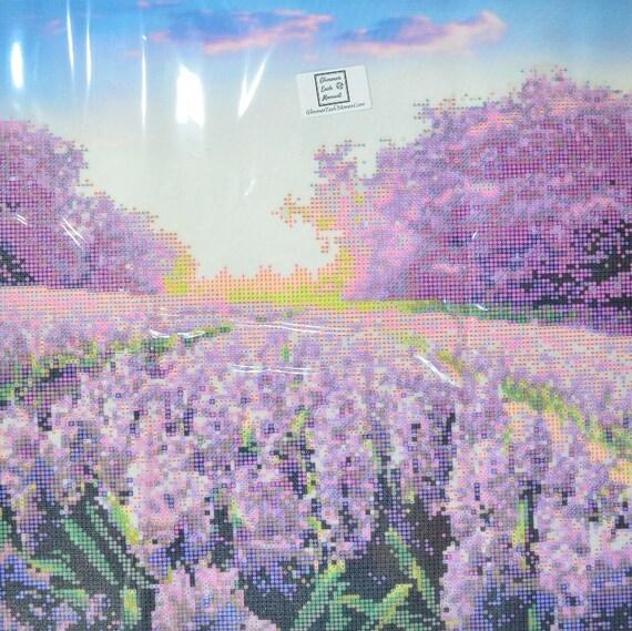 Pastel Flowers 127cm x 42cm Multi Panel Partial DIY Short Lint Fabric 5D Diamond Painting Canvas Kits 2.8mm 26 facet  AB Drills Included