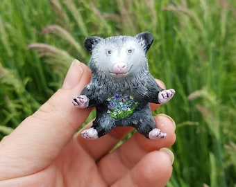"Real Opossum /""Peace/"" Skeleton Hand Foot Sign Language Gift Paw Skull"