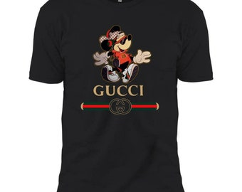 81148b589 4Guccy Stripe Happy Stylish Mickey Mouse Sunglass Men Women Black White  Tshirt- Gucci Tshirt- Mickey Mouse Gucci Tee- Size XS- 3XL