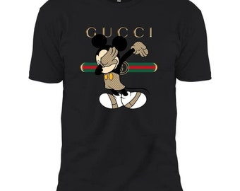 5a2e48fcf Mickey Mouse Dabbing GUCCI Disney T-shirts 100% cotton Men's trend 2019 Mickey  Mouse Gucci Tee- Size S- 3XL- Lil Pump Gucci Gang Tshirt