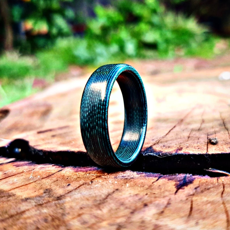 Micarta Scale Green /& Black Hand made ring for gift engagement and wedding ring