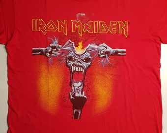 642d76a7 Iron Maiden T-Shirt A Real Dead One 1993 Size XL
