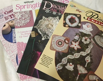 4 Books Plus one Booklet Dated 1935-1956 1935-1956 Vintage Crochet Pattern Books