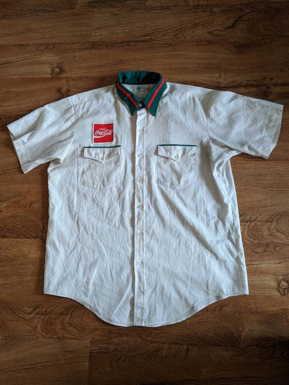 80s Coca Cola delivery driver shirt