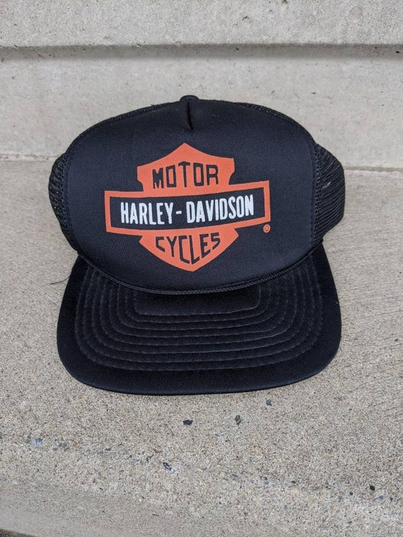 Vintage 80s Harley Davidson Trucker hat
