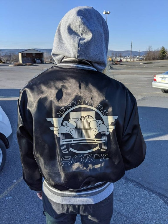 1980s Sony satin bomber jacket