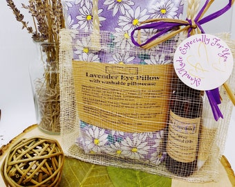 Natural Gift Set-Aromatherapy-Relaxation-Essential Oil-based products-Lavender Eye Pillow-Personalized Gift