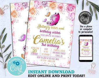 Butterfly Invitations Invitation Birthday Party Invites Invite Garden