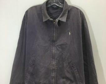 5809405f782e Vintage Polo Ralph Lauren Light Work Jacket Size XL Purple