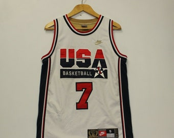 9fc28fe8c5b Vintage Larry Bird Dream Team USA Baskeball Jersey Size Small Olympics Gold  Logo
