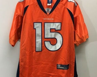 20cd64077 Denver Broncos #15 Tim Tebow NFL Reebok On Field Authentic Jersey Size 52  Orange
