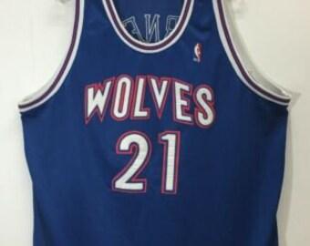 1f30ae251cb1 95 96 Kevin Garnett  21 Minnesota Timberwolves NBA Mitchell   Ness Jersey  Sz 56
