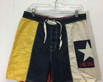 5828c2be41 Vintage Tommy Hilfiger Boardshorts Swim Suit Size M Color Block