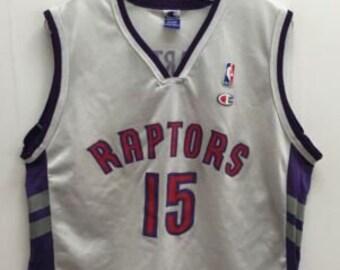 7a1af2d56cc Vintage Vince Carter Toronto Raptors NBA Champion Jersey Size 40 White