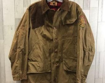 0c6f3f4672499 Vintage Original Hunting Jacket Size 42 Beige Corduroy