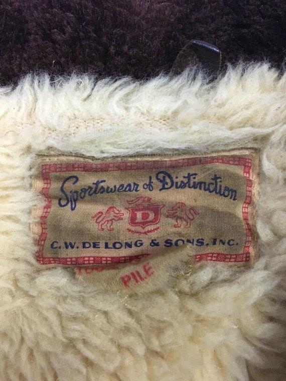 Vintage 50s 60s Sherpa Fleece Lined Sportswear Di… - image 4